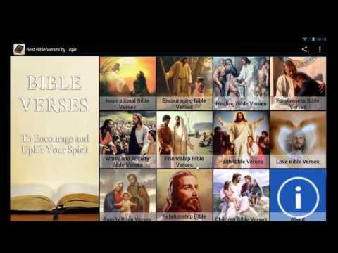 'Best Bible Verses By Topic' Mobile App For Android Devices