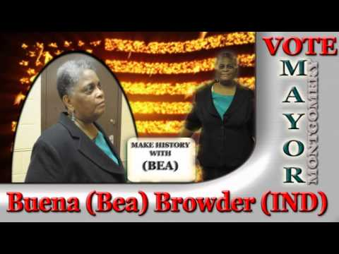 Buena (Bea) Browder for Mayor of Montgomery Alabama First African American Female Candidate