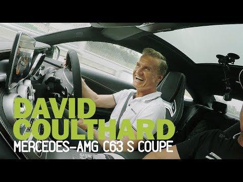 David Coulthard + AMG C63 S on a damp Sepang circuit. Oversteer ensues