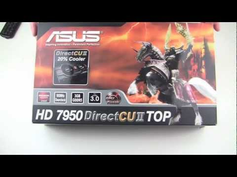 ASUS HD 7950 DirectCU II TOP Unboxing