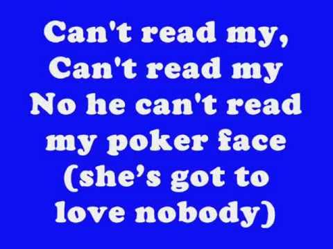 poker face lyrics f word