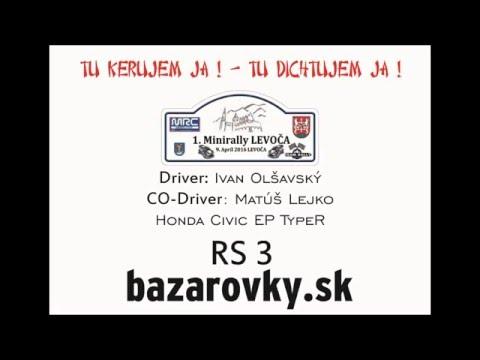 1. Minirally Levoča 2016 - Ivan Olšavský a Matúš Lejko - RS 3