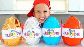 Vlad and Niki Chocolate Eggs Surprise Challenge