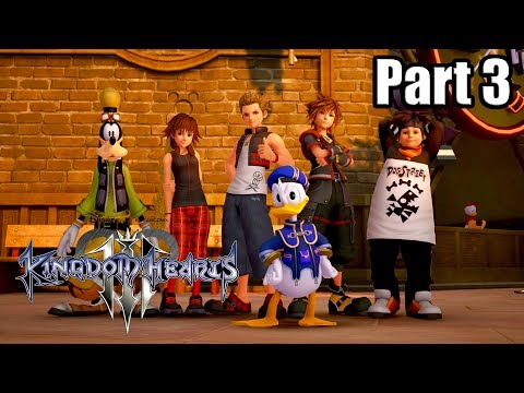 KINGDOM HEARTS 3 [PS4 PRO] English Walkthrough Part 3 - Twilight Town (No Commentary)
