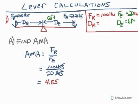 Poe First Class Lever Calculation Youtube