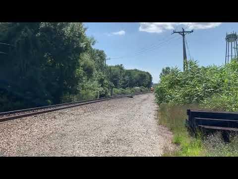 Northbound CSX mixed freight, Plaistow New Hampshire