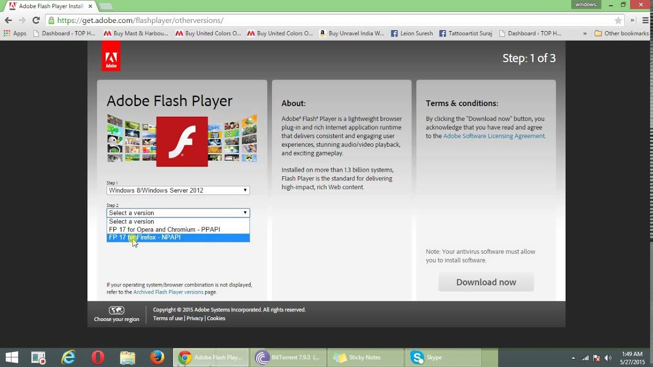 download flash video player for windows 7