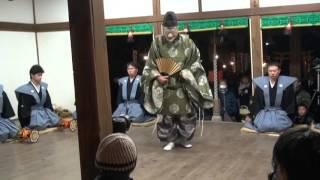 車 大歳神社の翁舞 on 2016-1-14 その3 翁舞