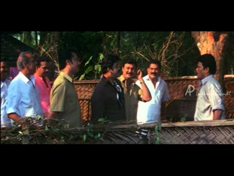 Vamanapuram Bus Route Malayalam Movie | Mohanlal | Force Jagadish to Cut Tree