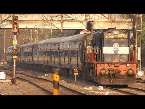 Solapur - Pune Intercity Express overtaking Chennai - Ahmedabad Special at Hadapsar
