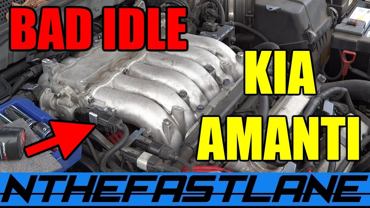 medium resolution of kia amanti bad idle misfire spark plug change fix