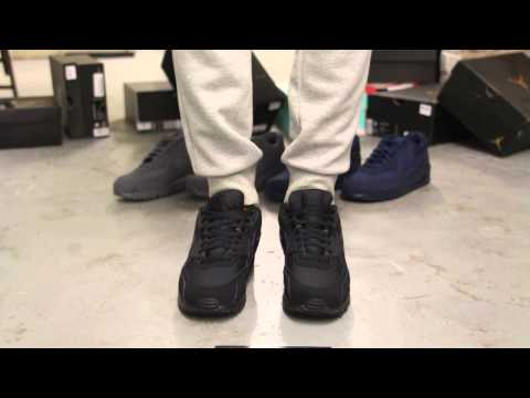 Nike Air Max 90 Essential Black On Feet Video At Exclucity Youtube