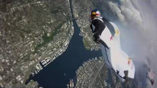 Wingsuit flight above the space needle! - Seattle Swoopers - Red Bull Air Force