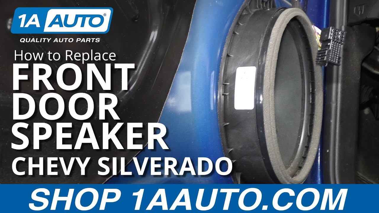 How To Replace Front Door Speaker 14 19 Chevy Silverado 1a Auto
