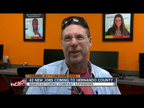 Manufacturer creates dozens of jobs thanks to Hernando County incentive package
