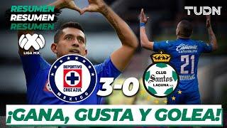 Resumen y goles | Cruz Azul 3 - 0 Santos | Liga Mx - CL 2020 J-3 | TUDN