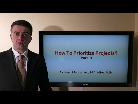 Project Portfolio Management - How to Prioritize Projects? - 1/2
