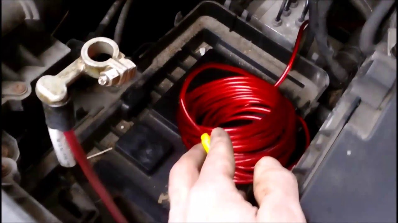 A place for amplifier wire on firewall VW passat b6  YouTube