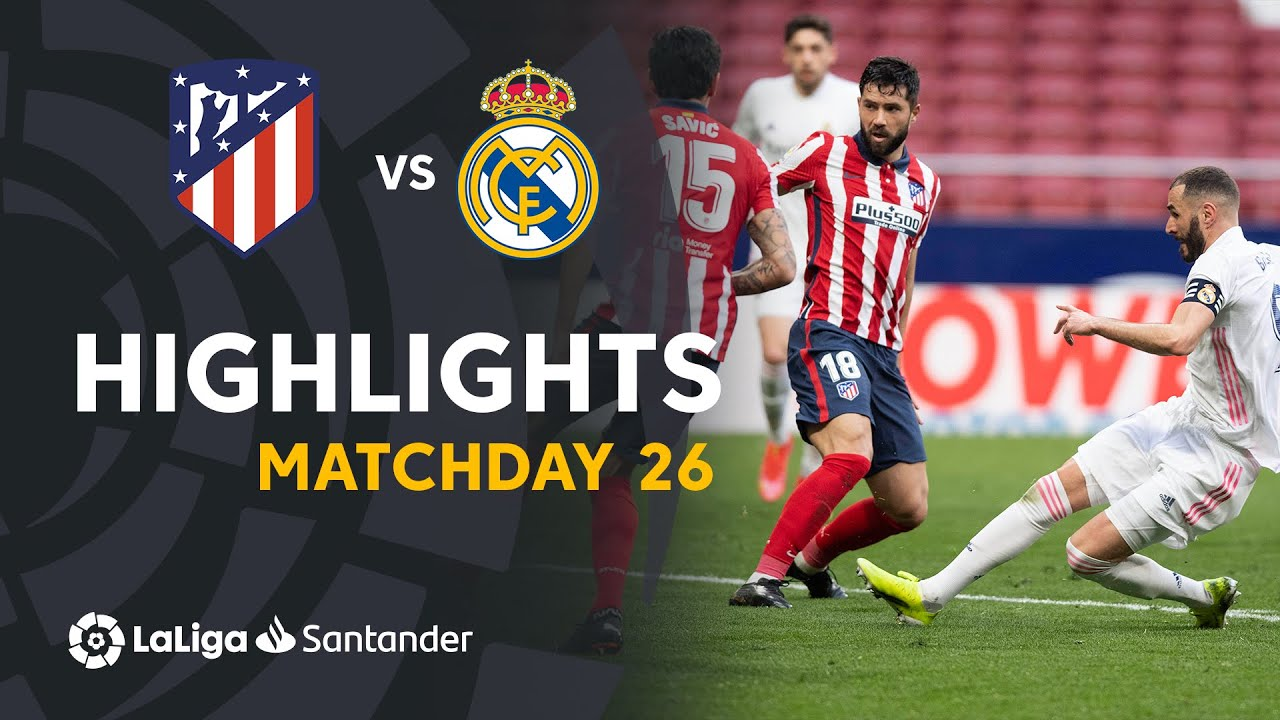 Highlights Atlético de Madrid vs Real Madrid (1-1)