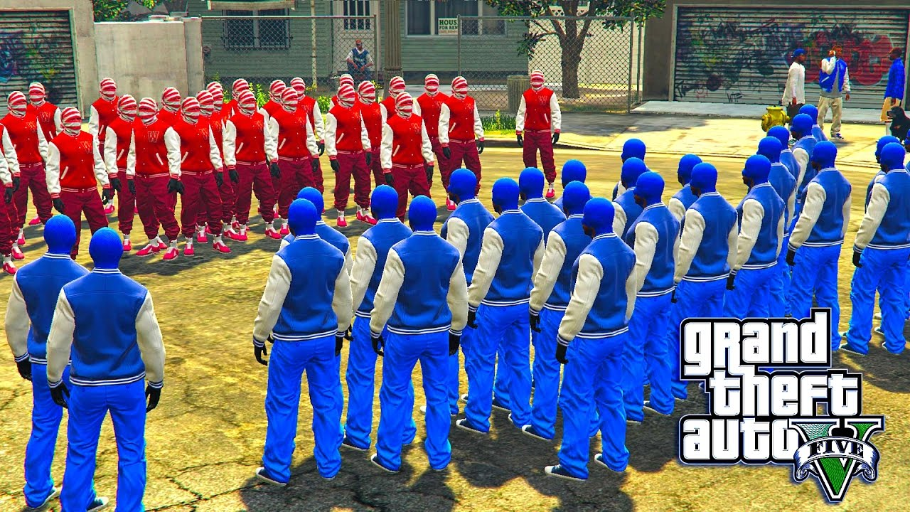 Gta 5 Online Bloods Vs Crips Youtube
