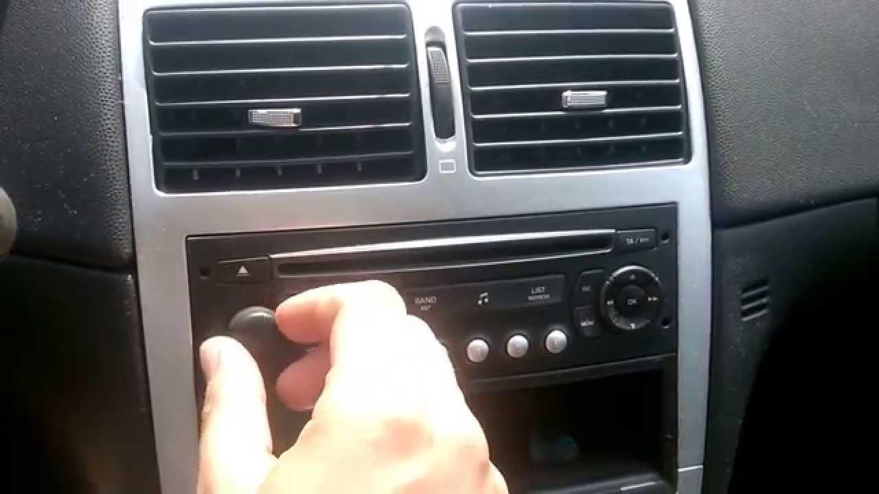 Peugeot 307 Radio Rd4 Youtube