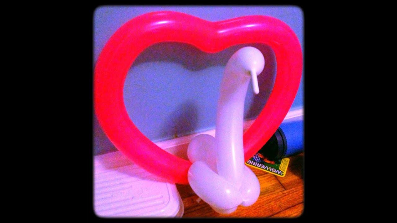 Como hacer un coraz n con un cisne con globos youtube - Hacer munecos con globos ...