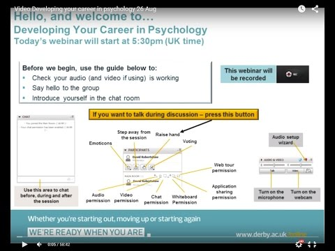Developing your career in Psychology 26 Aug