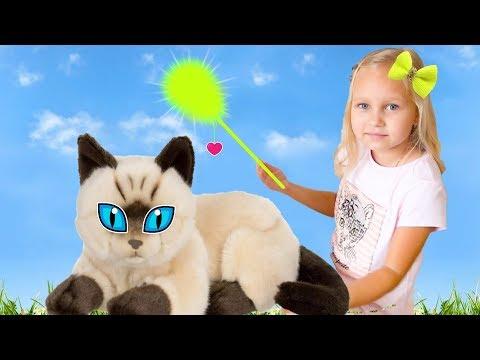 Алиса и котёнок в магазине ! Прогулка на детской площадке Развлечение для детей Entertainment