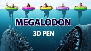 3D ручка | Как нарисовать Мегалодона🦈| Объёмная поделка 3д ручкой | Видео-урок для продвинутых|