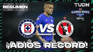 Resumen y goles   Cruz Azul vs Tijuana   Torneo Guard1anes 2021 BBVA MX J17   TUDN