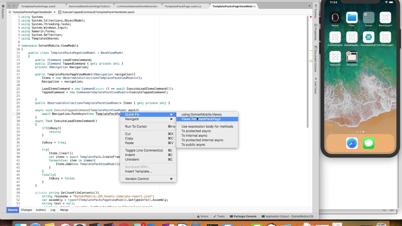 Part 2: Building an iOS app with Visual Studio Mac and Xamarin Forms ...