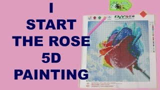 I start rose 5D diamond painting kit