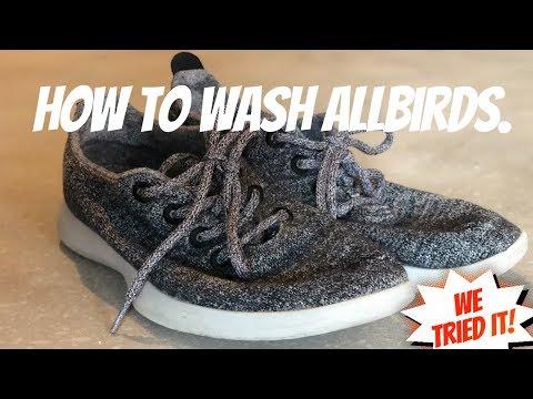 How do you wash Allbirds shoes?