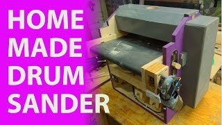 In this video I make a drum/ thickness sander. It turned out fairly well and so far i
