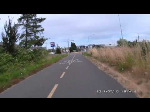 Cycling on Galloping goose trail to Victoria, BC