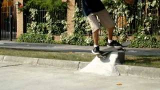 This Video Previously Contained A Copyrighted Audio Track. Due To A Claim By A Copyright Holder, The Audio Track Has Been Muted.     D.i.y Concrete Quarter Pipe 2