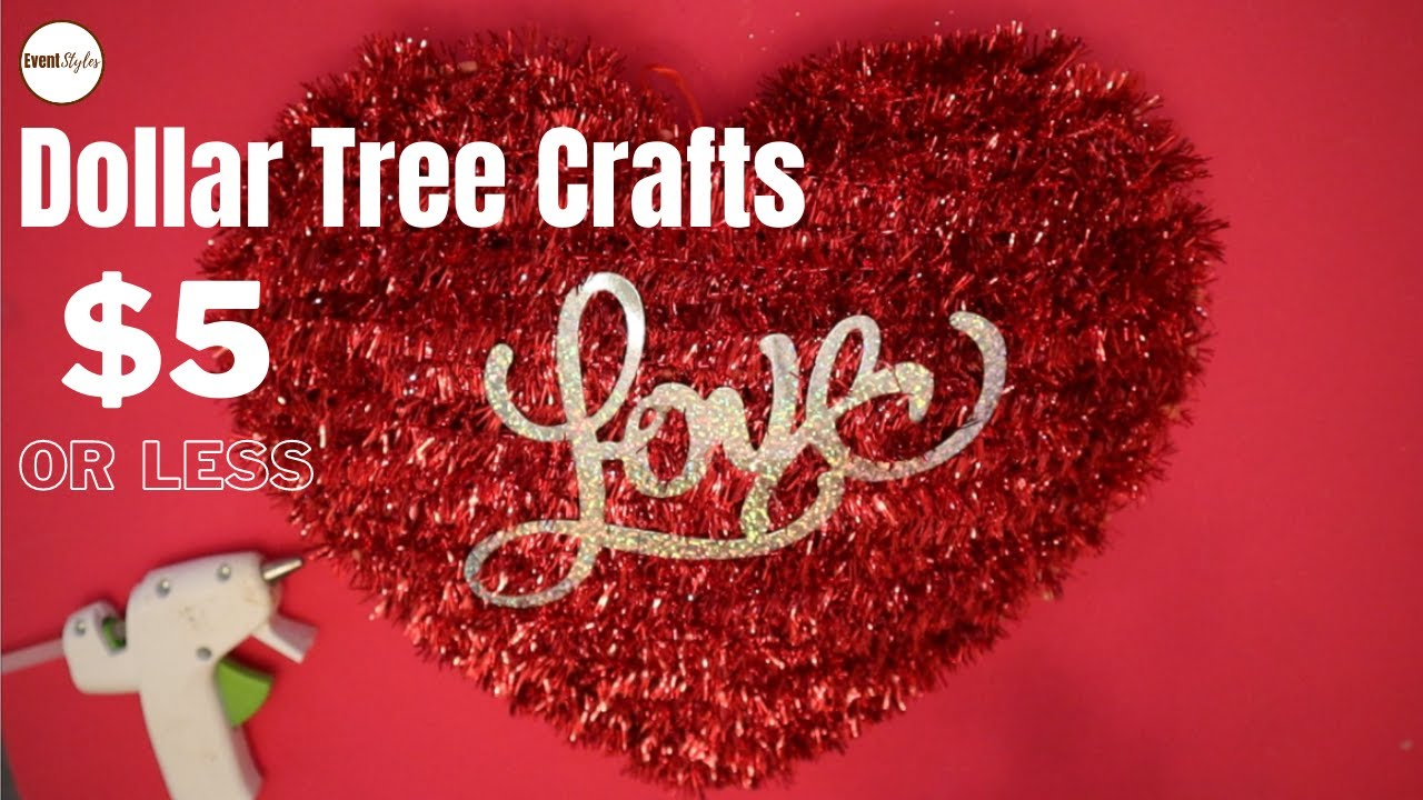 Dollar Tree DIY Valentine's Day Craft Ideas Under $5 #shorts