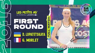 2 dasha lopatetskaya ukr vs giulia morlet fra 1er tour tableau final les petits as 2016