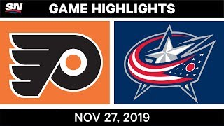 NHL Highlights   Flyers vs. Blue Jackets – Nov. 27, 2019