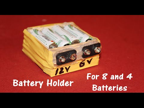 Battery Holder for 4 and 8 AA size Batteries - 6V and 12V output