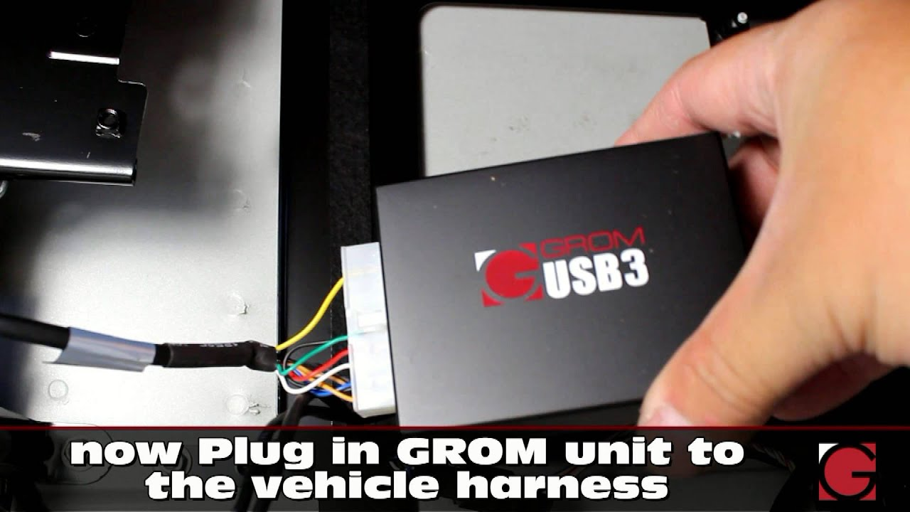 installation of grom usb android iphone bluetooth car kit into bmw z4 2003 2008 trunk  [ 1280 x 720 Pixel ]