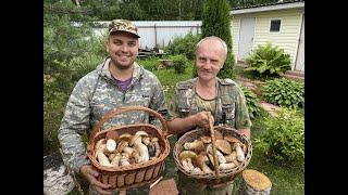 Грибники. Часть 2. Продолжение грибного похода и Кухня. Суп из белых грибов.