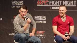 Forrest Griffin, Conor McGregor, Ross Pearson & Joanne Calderwood: UFN 38 London Q Pt 1 of 3
