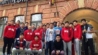 """Philippines Students Basketball team """"San Beda"""" in Lithuania"""