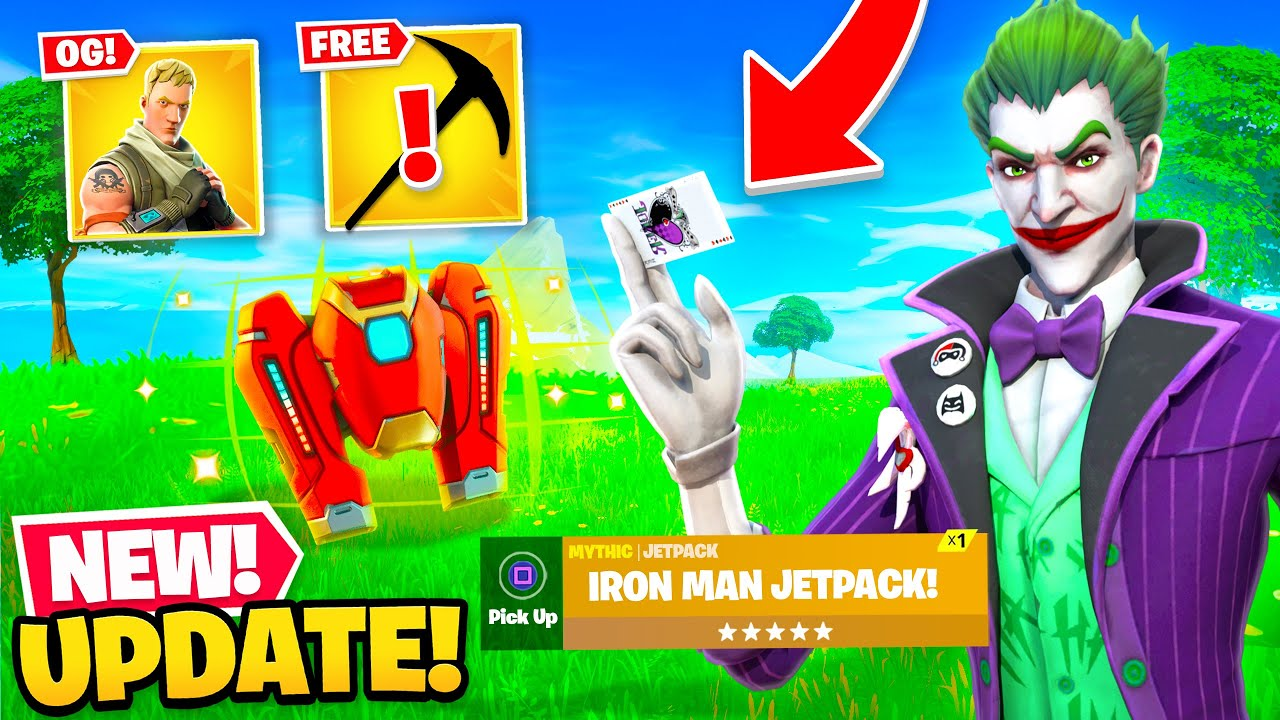 *NEW* MYTHIC JETPACK UPDATE in Fortnite! (Free Gifts, OG Defaults + MORE)