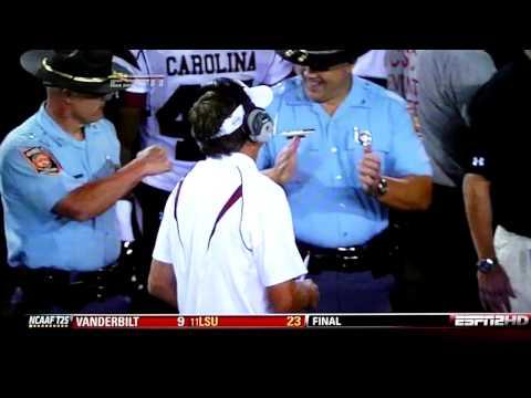 Ga. State Patrol Troopers Fist Bump After Georgia Beats South Carolina 41-37