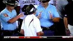 Ga. State Patrol Troopers Fist Bump After Georgia Beats South Carolina 41-37