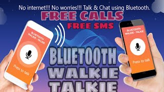 How To Make Your Smartphone As A Bluetooth Walkie Talkie | Unlimited Free Calls & Sms