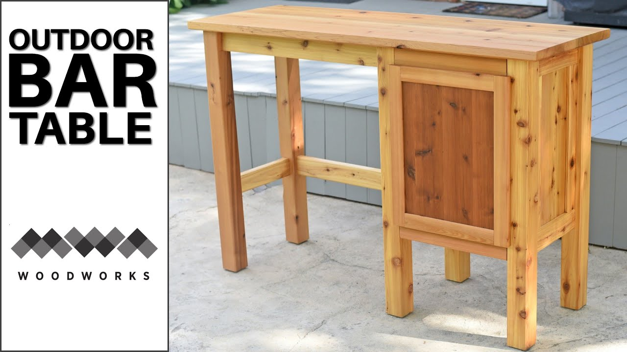Outdoor Bar Table Patio Furniture, How To Make An Outdoor Bar Table