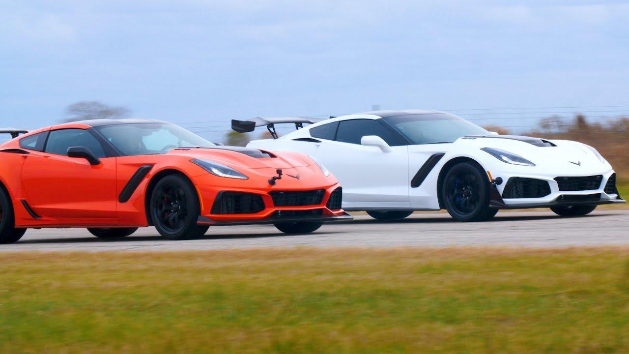 2019 Corvette ZR1 Drag Race: 850 HP vs 755 HP - YouTube